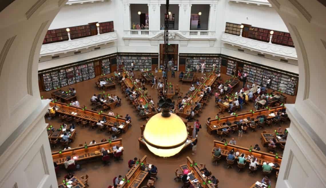 biblioteka w Melbourne Victoria