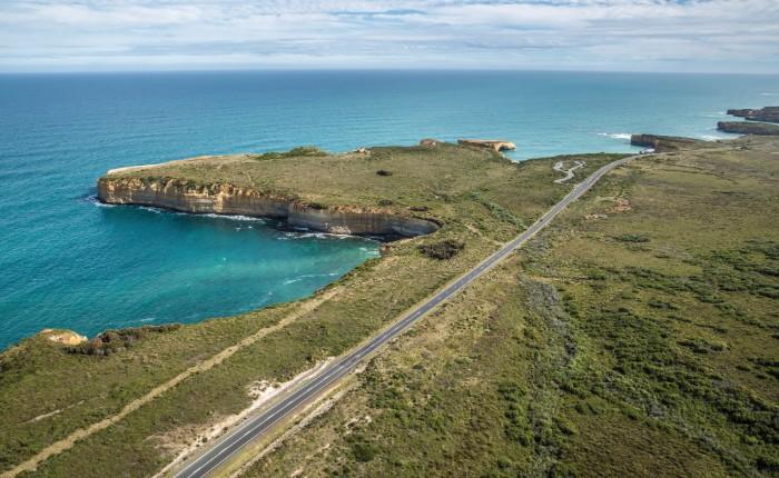Great Ocean Road widok z lotu ptaka najważniejsze miejsca