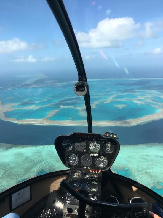 wycieczki Australii Wielka Rafa Koralowa widok z helikoptera